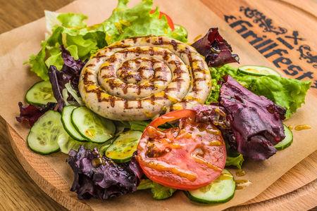 Бургер салат