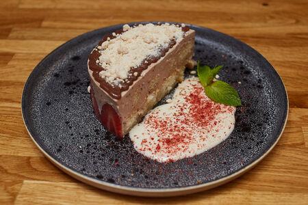 Десерт Шоколад и сливки