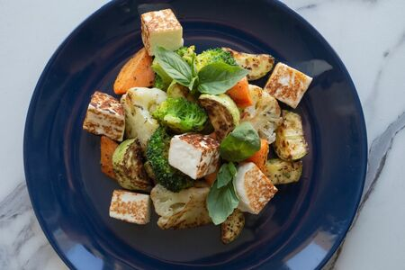 Салат Овощи с адыгейским сыром
