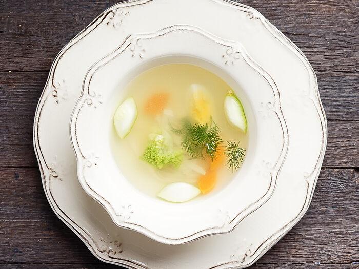 Суп Куриный бульон с яйцом