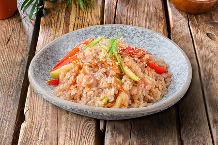 Вок Рис с овощами
