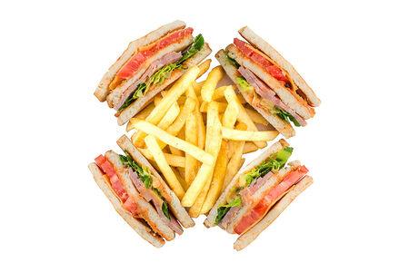 Клаб-сэндвич с говядиной и бараниной