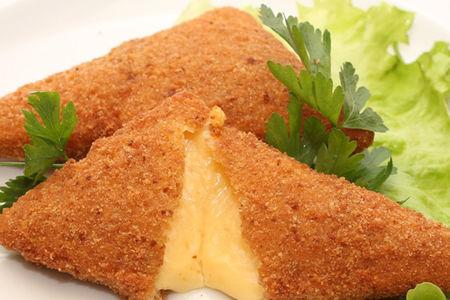 Смаженный сыр с омачкой