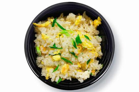 Жареный рис с омлетом