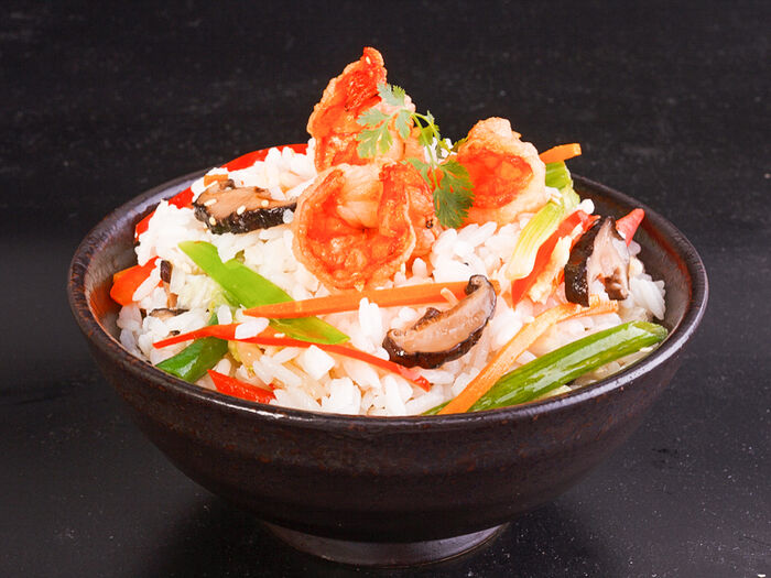 Вок Терияки с морепродуктами и рисом