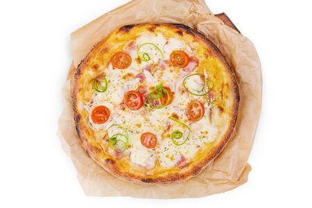 Пицца Сливочный цыпленок с беконом