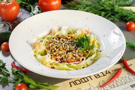 Салат с киноа и запечённой тыквой