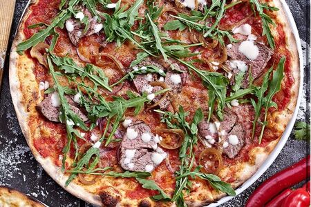 Пицца с ростбифом и рукколой 25см