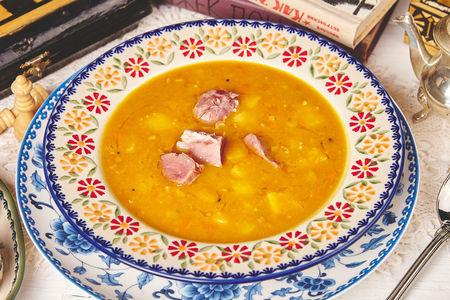 Гороховый суп на копченой рульке