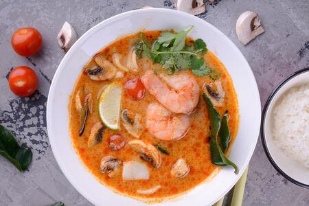 Суп Том Ям Кунг с морепродуктами
