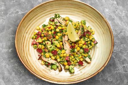 Салат с кукурузой ицыпленком