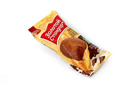 Мороженое Золотой стандарт Пломбир шоколадный