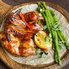 Фото к позиции меню Имбирный цыпленок со спаржей