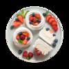 Фото к позиции меню Пирожное Воздушное с ягодами от шеф-кондитера Ав