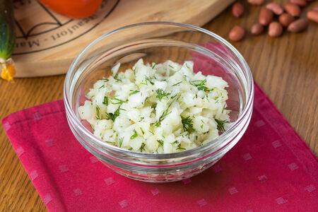 Салат Капуста квашенная с ароматным маслом