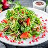 Фото к позиции меню Теплый салат с ягнятиной и зеленью