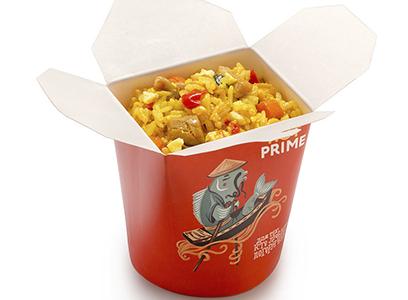 Жасминовый рис с омлетом и курицей