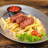 Фото к позиции меню Детские сосиски с картофелем фри