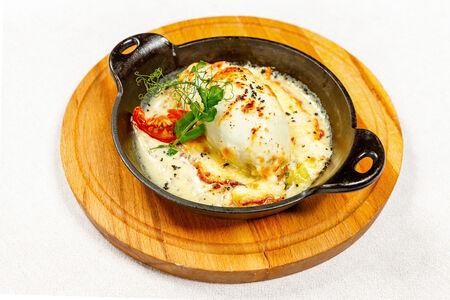 Кальмар фаршированный картофелем