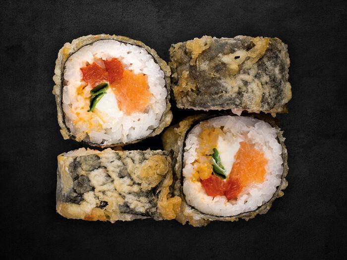 Темпура-ролл с лососем