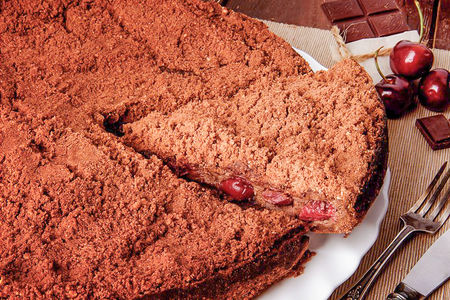 Пирог Вишня в шоколаде