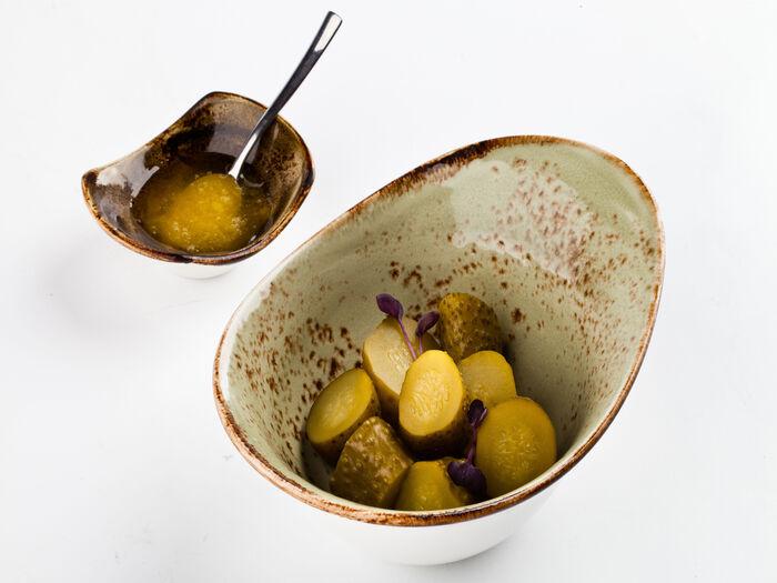 Огурцы солёные с мёдом