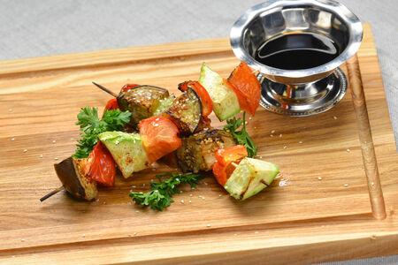 Овощи гриль на шпажке
