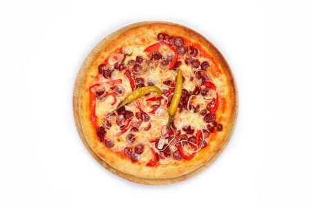 Пицца Охотничья на красном соусе