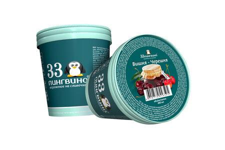 Сливочное мороженое Вишня-черешня