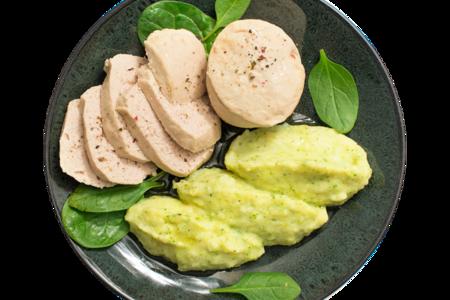 Суфле из индейки паровое с картофелем и брокколи