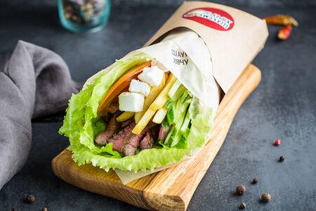Шаурма по-гречески с говядиной