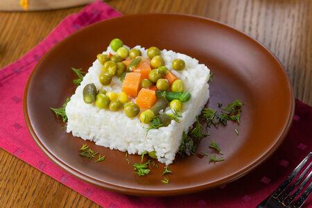 Рис с овощами Мозаика