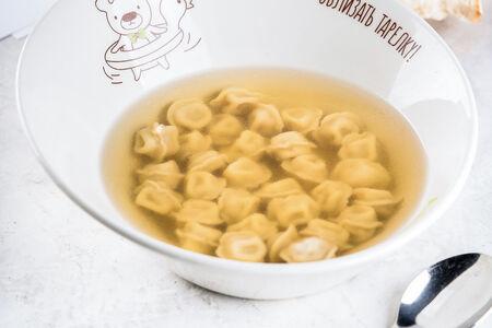Суп с мини-пельмешками
