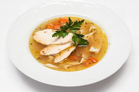 Домашний суп из курочки