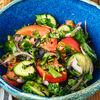 Фото к позиции меню Овощной салат со специями по-грузински