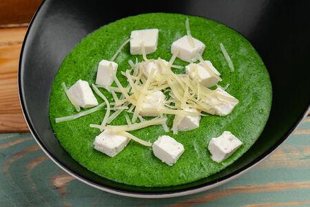 Крем-суп из шпината с сыром фета