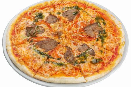 Пицца с говядиной и томатами
