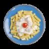 Фото к позиции меню Завитушки с курочкой в сливочном соусе
