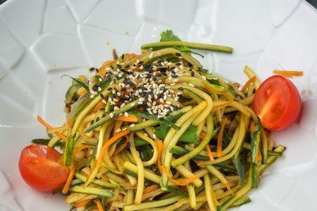 Салат из огурцов с китайскими грибами