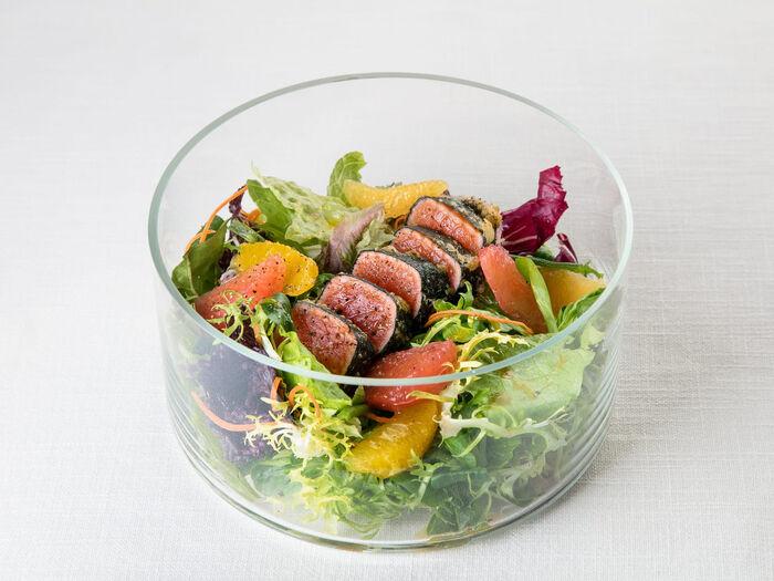 Салат Галерея с лососем