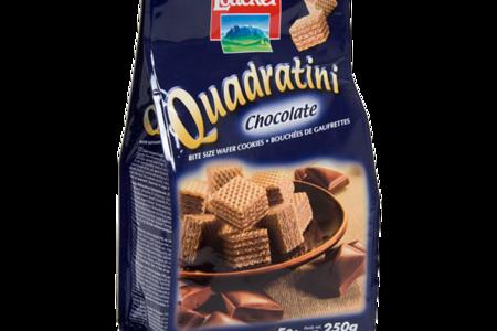 Вафли Loacker Квадратини с шоколадом