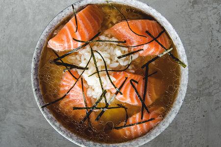 Суп Сяке с лососем
