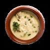 Фото к позиции меню Белые грибы в сливочном соусе в горшочке