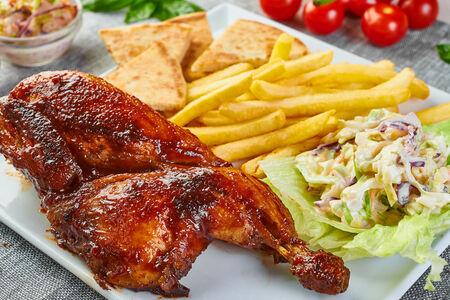 Цыпленок на гриле половинка