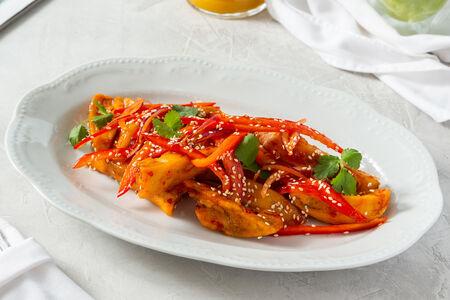 Салат с баклажанами по-тайски