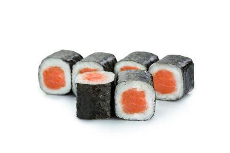 Мини ролл с копченым лососем