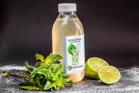 Тонизирующий зеленый чай с мятой и лаймом