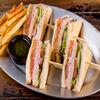 Фото к позиции меню Клаб-сэндвич с сёмгой
