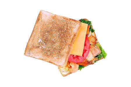 Тост с курицей и сыром