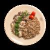 Фото к позиции меню Бефстроганов из говядины с гречкой